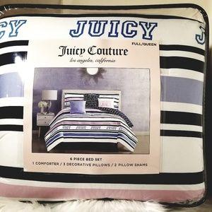 Juicy Couture 6 Piece Comforter Set Full/Queen
